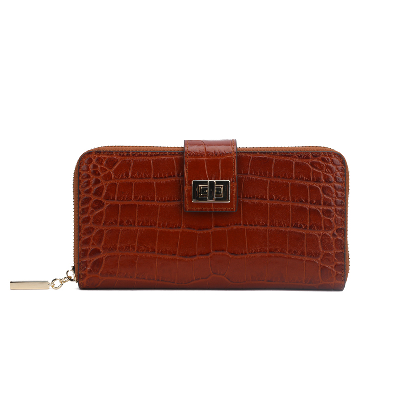croc leather women wallet