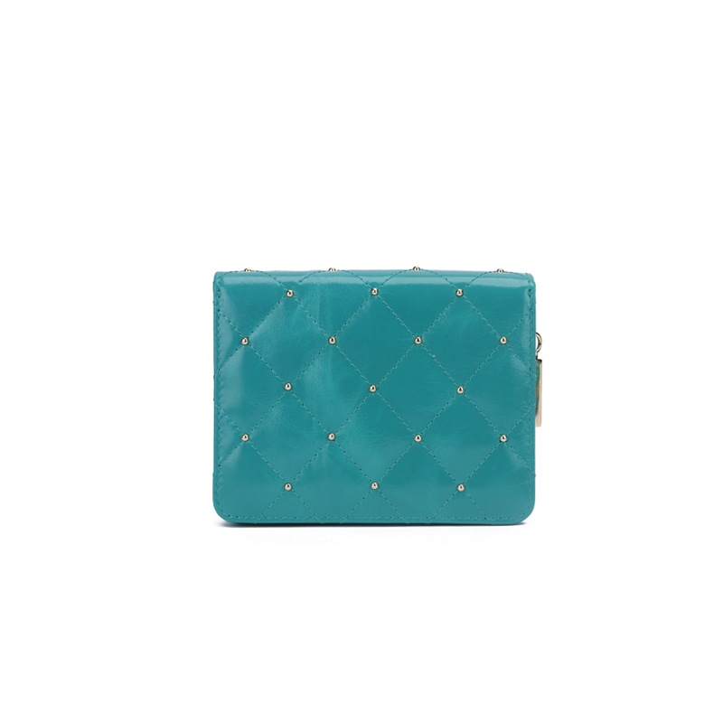 leather women wallet with studs